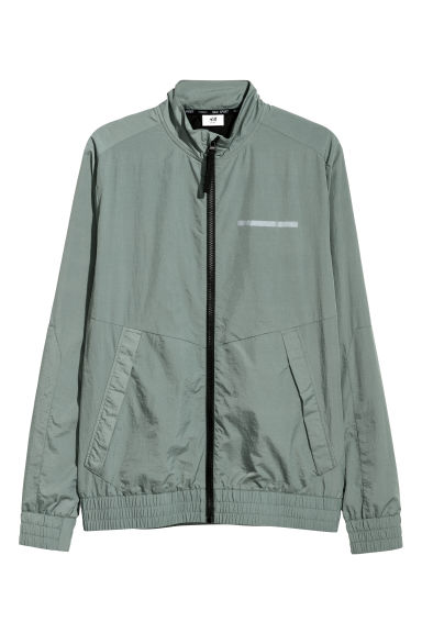 Nylon sports jacket - Dusky green - Men | H&M