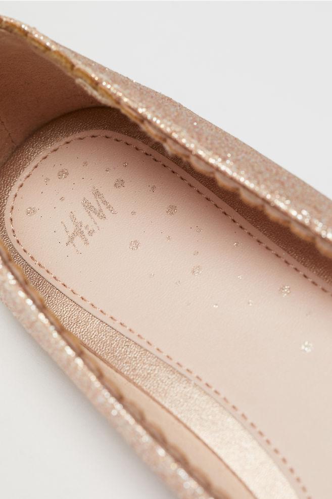 2cb2b81ce9c ... Glittery ballet pumps - Rose gold-coloured - Kids