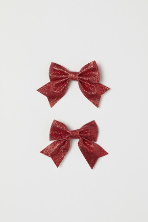 2-pack glittery hair clips