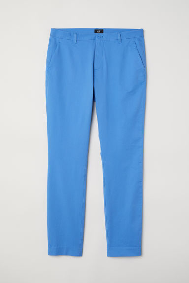 Cotton chinos Slim Fit - Bright blue -  | H&M CN