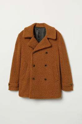 2a6238de387a Krátky plyšový kabát