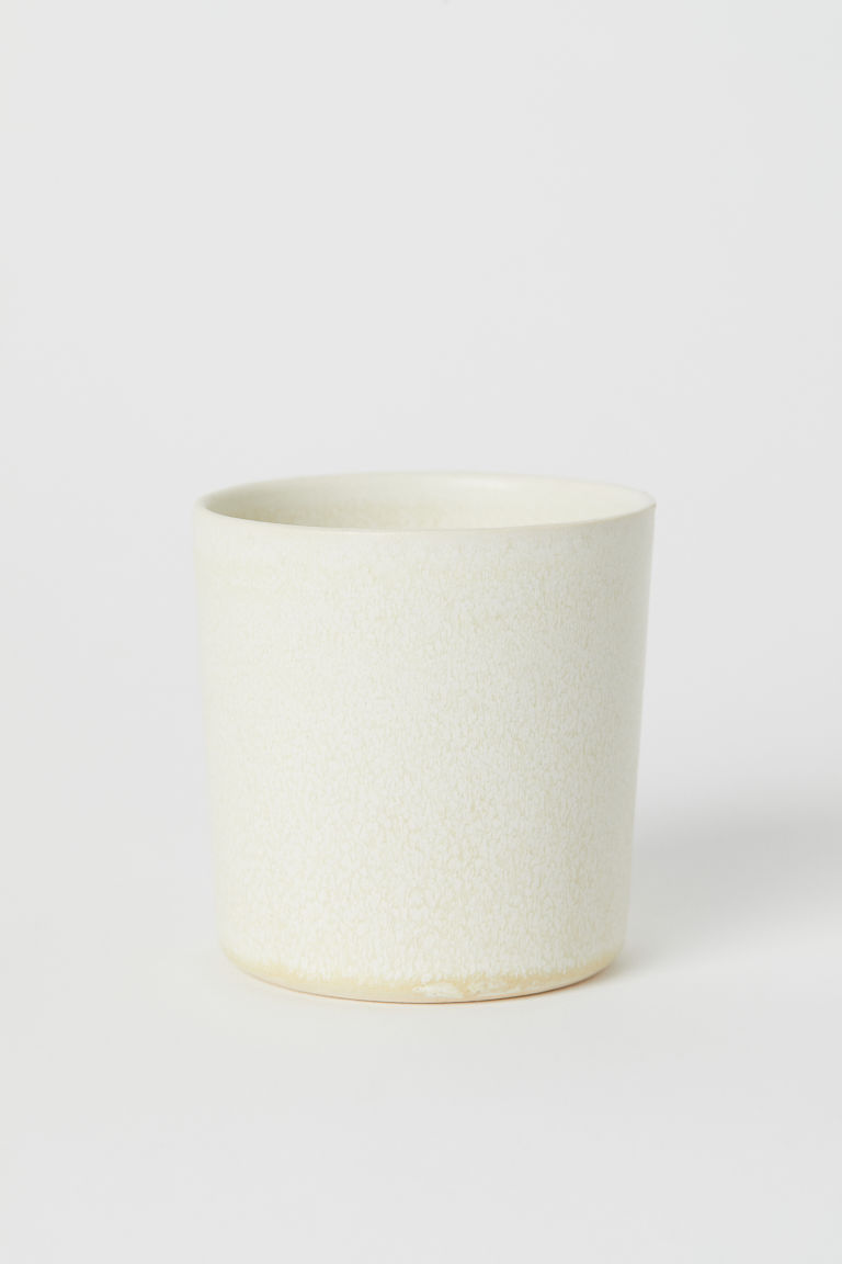 Stoneware mug - White - Home All | H&M CN