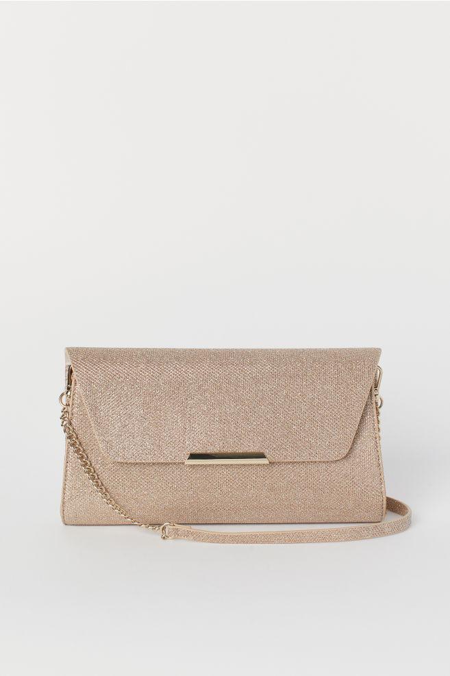 482c63732 Glittery clutch bag - Gold-coloured - Ladies | H&M ...