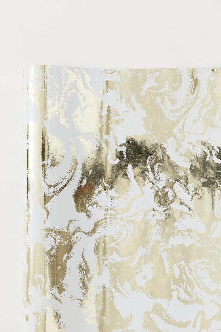 Papier cadeau - Blanc/marbré - Home All   H&M FR 1