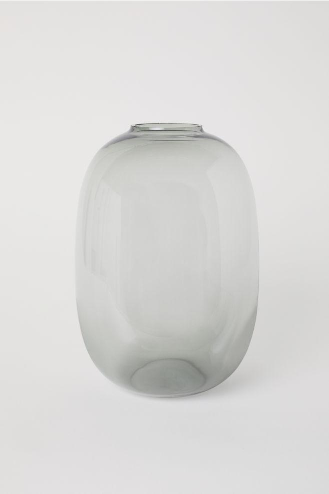 Genoeg Grote glazen vaas - Donkergrijs - HOME | H&M NL #JQ88