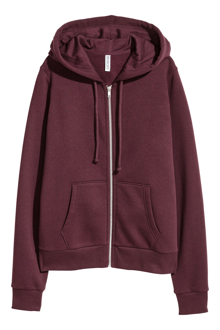 Hooded jacket - Burgundy - Ladies | H&M IE