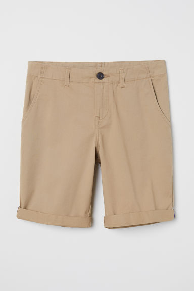 Generous Fit Chino shorts - Beige - Kids | H&M CN