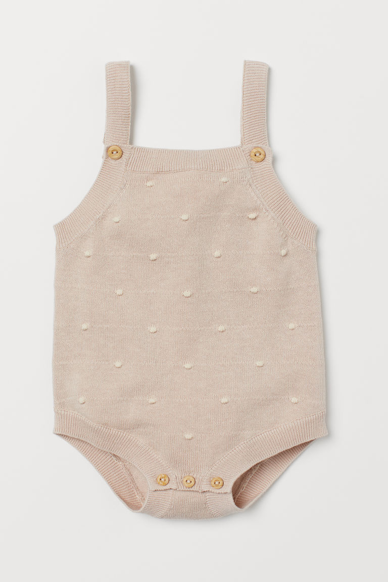 Knit Bodysuit - Light beige - Kids | H&M US