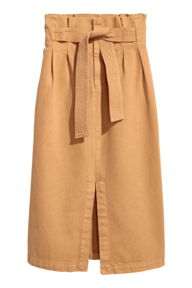 Denim skirt - Mustard yellow - Ladies | H&M CN