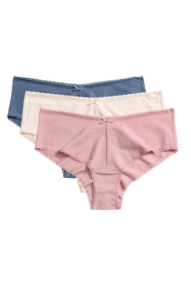3-pack cotton hipster briefs - Powder pink/Blue - Ladies | H&M IE