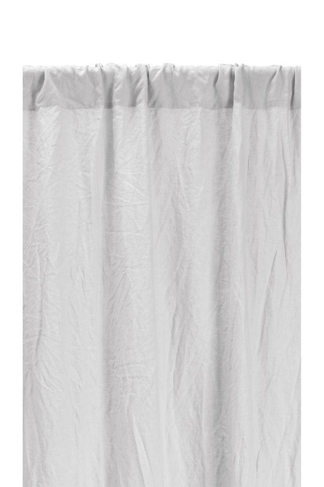 gordijn van gewassen linnen lichtgrijs home hm