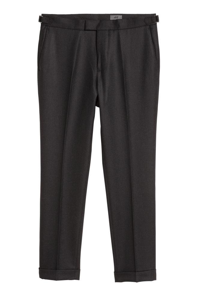 Villakankaiset puvunhousut - Musta - MIEHET  2955269fd5