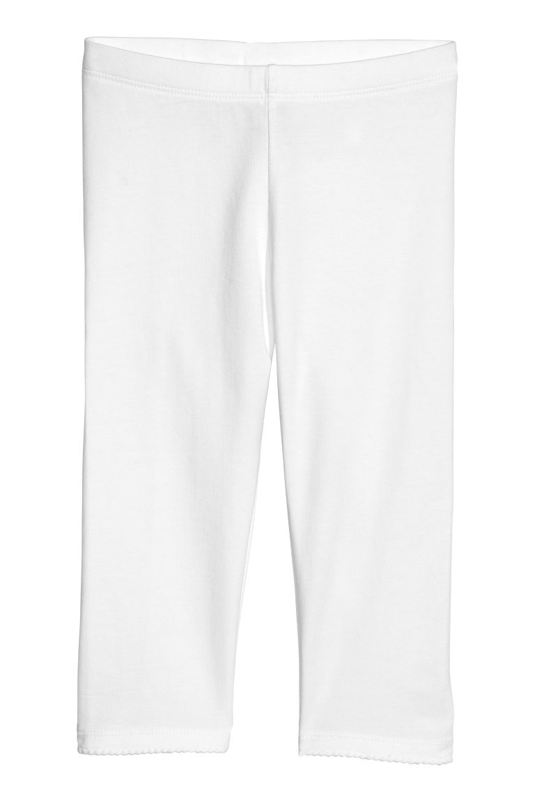 3/4-length leggings - White - Kids | H&M CN