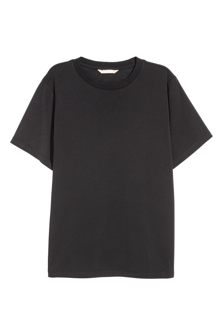 Wide T-shirt - Black - Ladies | H&M