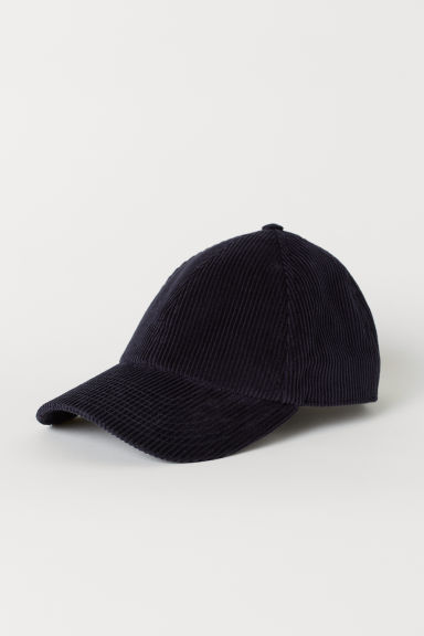 Corduroy cap - Dark blue - Men | H&M