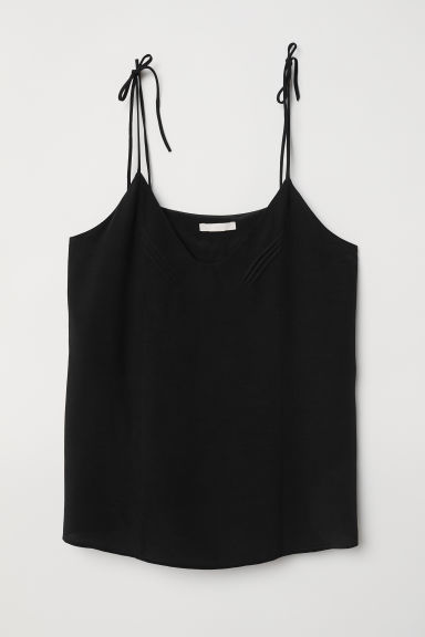 V-neck top - Black -  | H&M