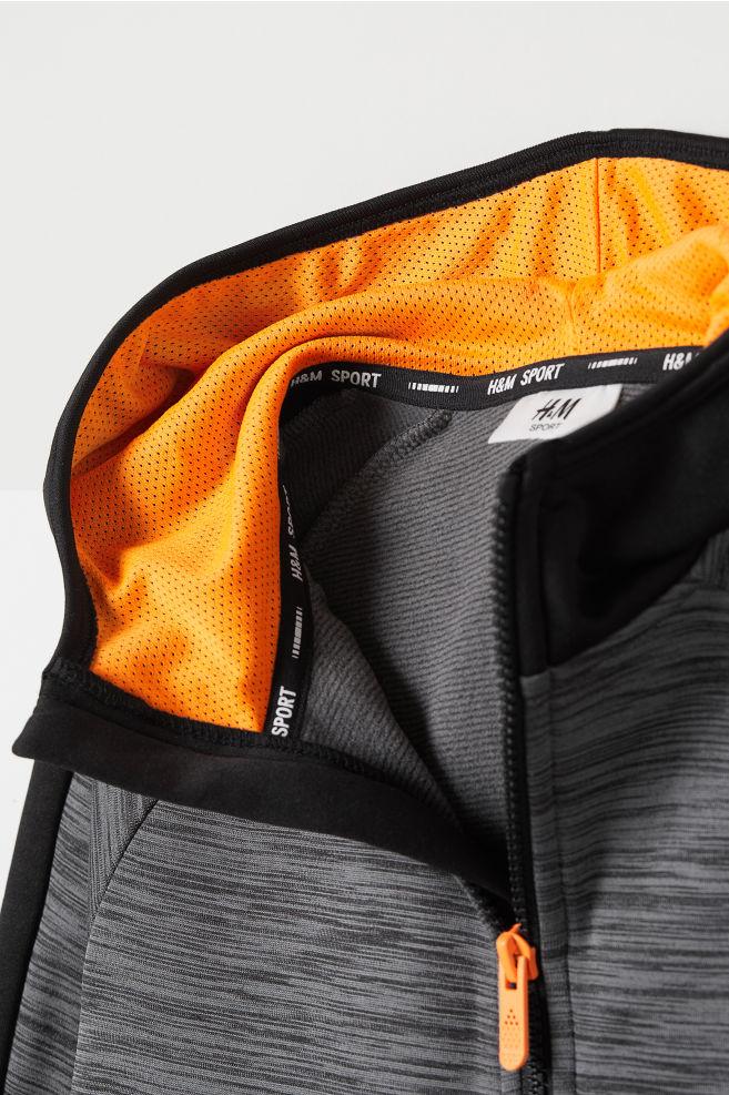 834ef7096e Hooded Sports Jacket - Dark gray melange - Kids