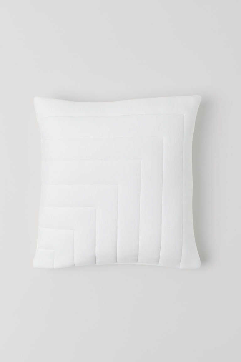 Copricuscino trapuntato - Bianco - HOME | H&M IT