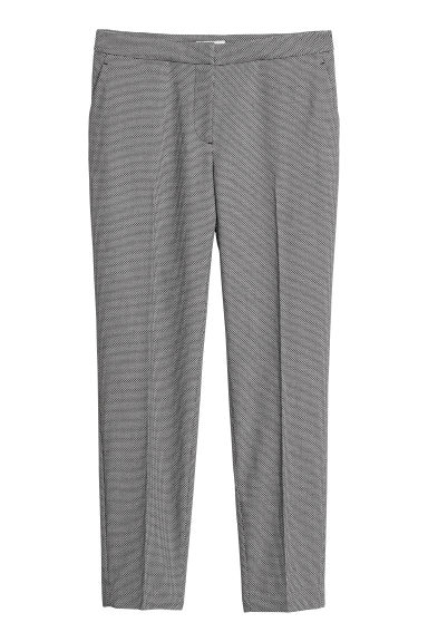 Tailored trousers - Black/Patterned - Ladies | H&M GB
