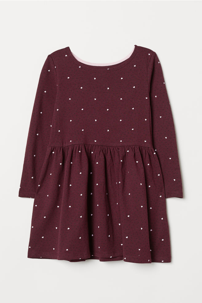 47501798cdc Jersey Dress - Burgundy hearts - Kids