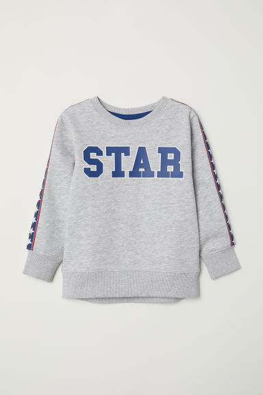 Printed sweatshirt - Grey marl/Star -  | H&M CN