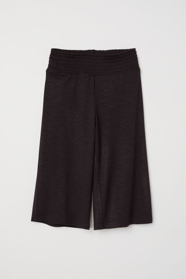 Viscose trousers with smocking - Black -  | H&M