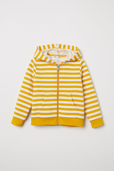 Hooded jacket - White/Striped - Kids | H&M CN