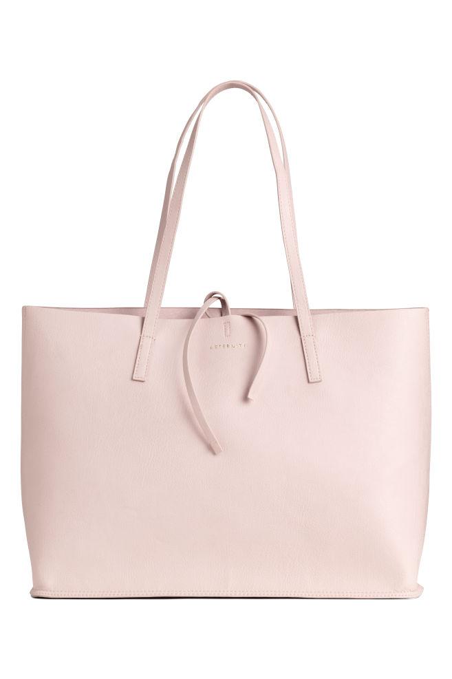 Bolso shopper reversible - Rosa empolvado - | H&M ES 1