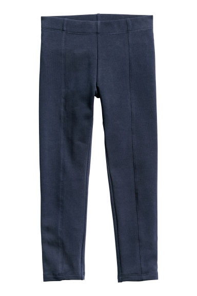 Sturdy jersey leggings - Dark blue - Kids | H&M CN