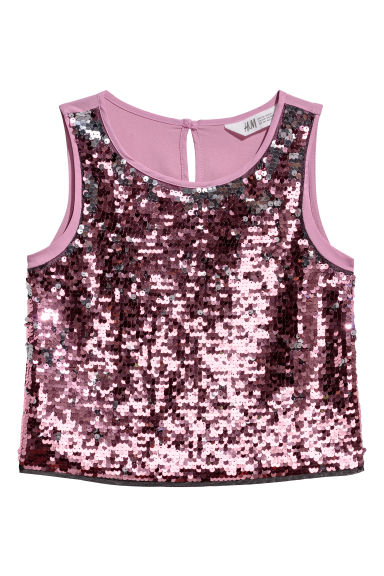 Sequined top - Heather - Kids | H&M CN