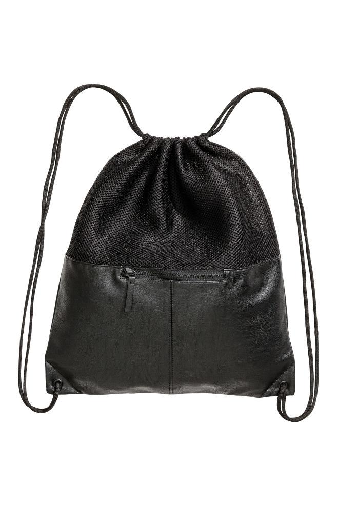Mesh Gym Bag Black Men H M