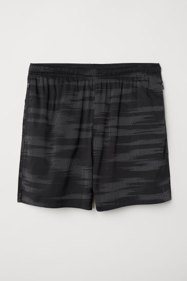 Running shorts - Black/Reflective - Men | H&M