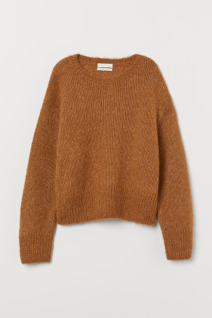 Knit Wool-blend SweaterModel