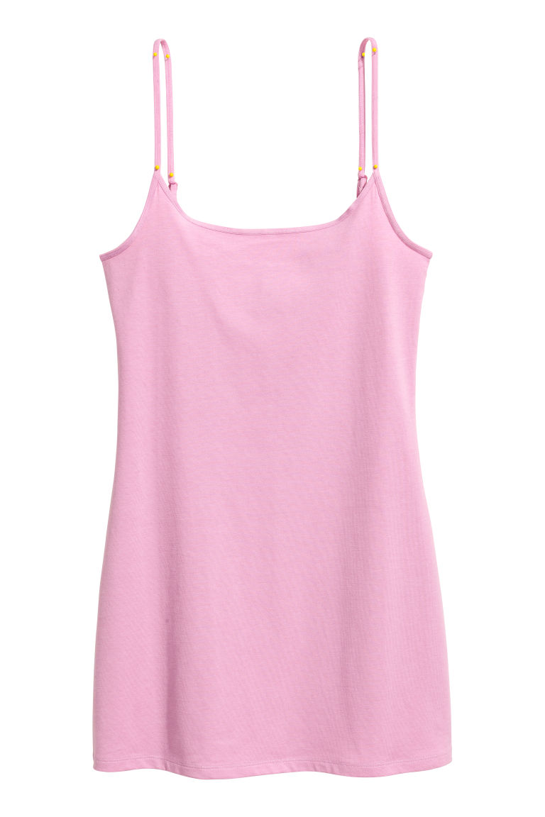 Long jersey strappy top - Light purple - Ladies | H&M