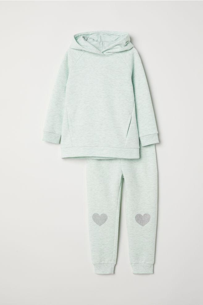 f12616fba2 Pijama en tejido sudadera - Verde menta - NIÑOS