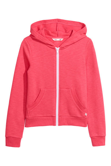 Hooded jacket - Raspberry pink - Kids | H&M CN