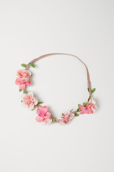 Hairband with flowers - Pink -  | H&M CN