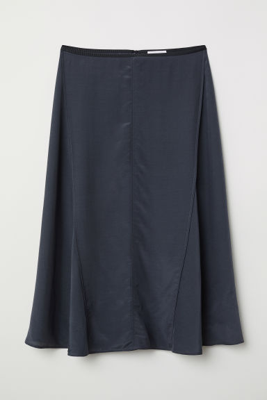 Lyocell-blend skirt - Dark grey - Ladies | H&M CN