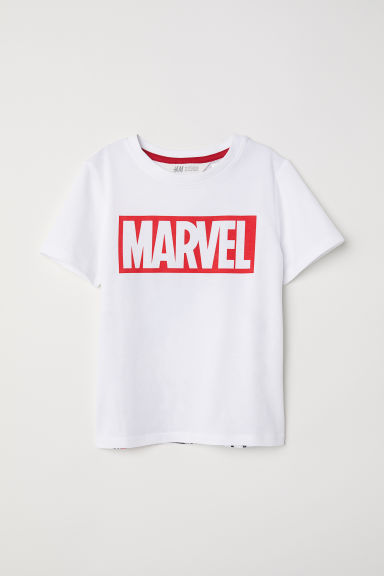 Printed T-shirt - White/Spider-Man - Kids | H&M