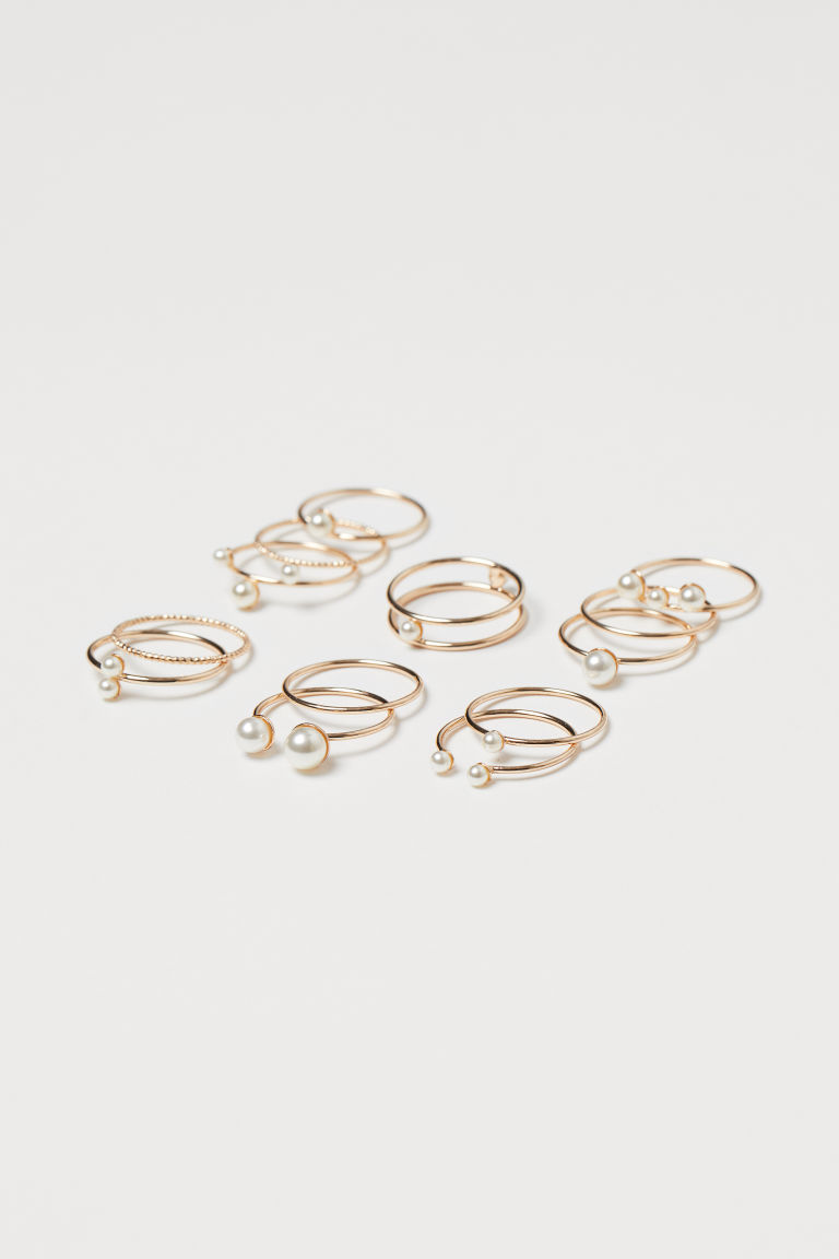 13er-Pack Ringe - Goldfarben - Ladies | H&M AT