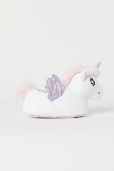 Soft slippers - White/Light purple - Kids | H&M