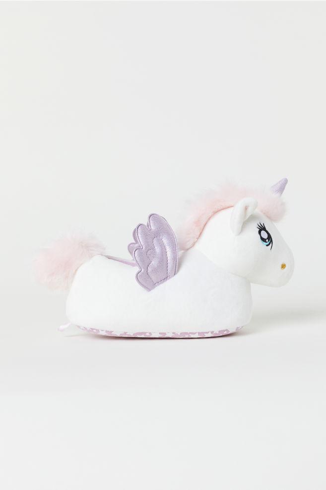 Pantoufles souples - Blanc/mauve clair - ENFANT | H&M CA
