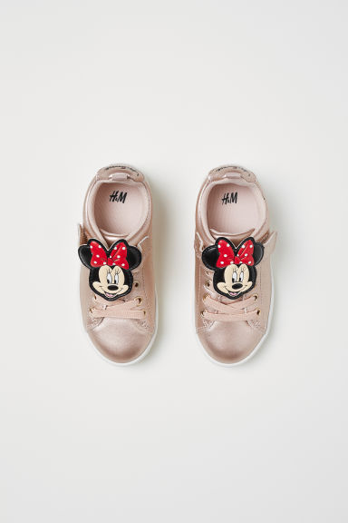 Appliquéd trainers - Bronze-coloured/Minnie Mouse -  | H&M CN