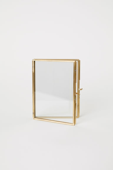 Folding metal frame - Gold-coloured - Home All | H&M CN
