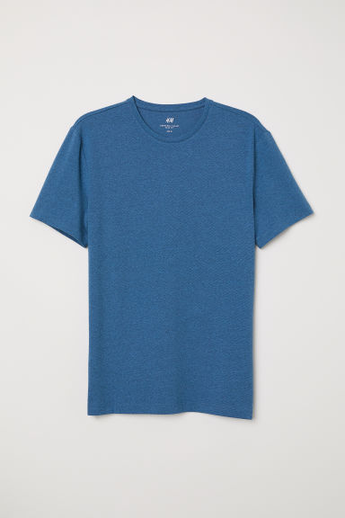 T-shirt girocollo Slim fit - Blu/righe - UOMO | H&M IT