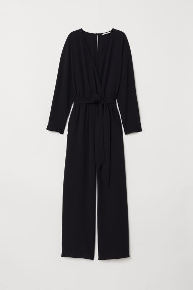 Long-sleeved jumpsuit - Black - Ladies | H&M