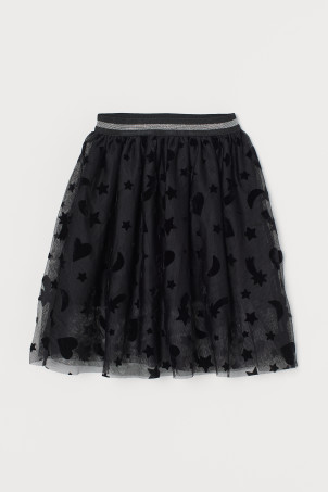 Patterned tulle skirt