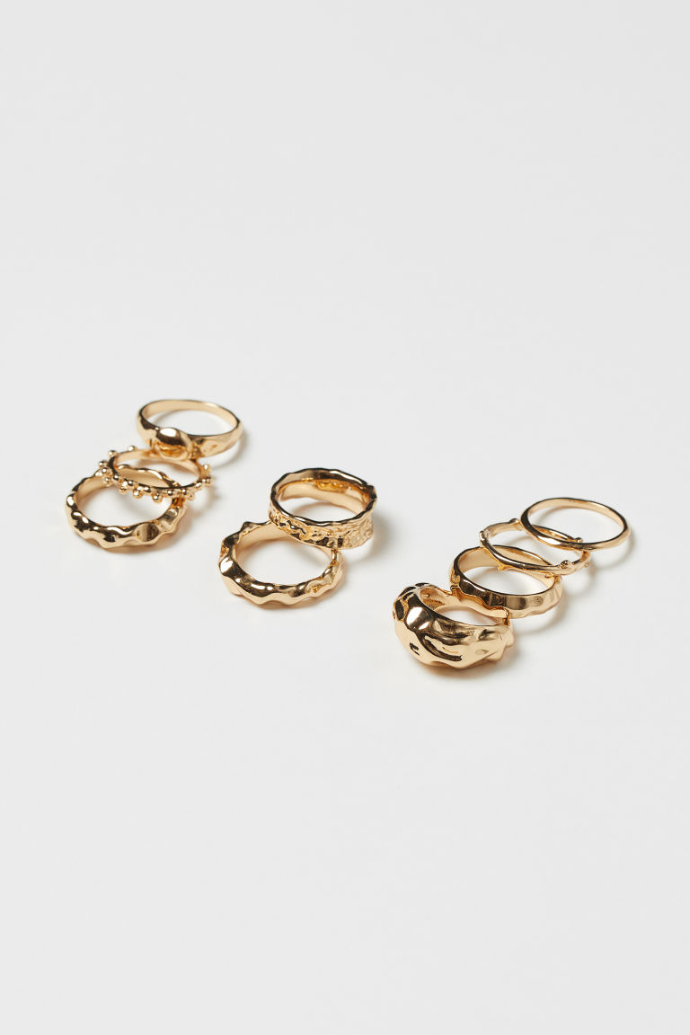 9er-Pack Ringe - Goldfarben - Ladies | H&M DE