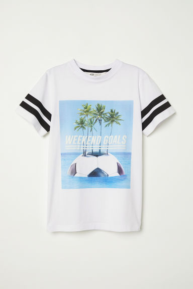 Camiseta con estampado - Blanco/Weekend Goals - NIÑOS | H&M ES