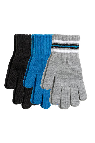 3-pack gloves - Bright blue -  | H&M GB